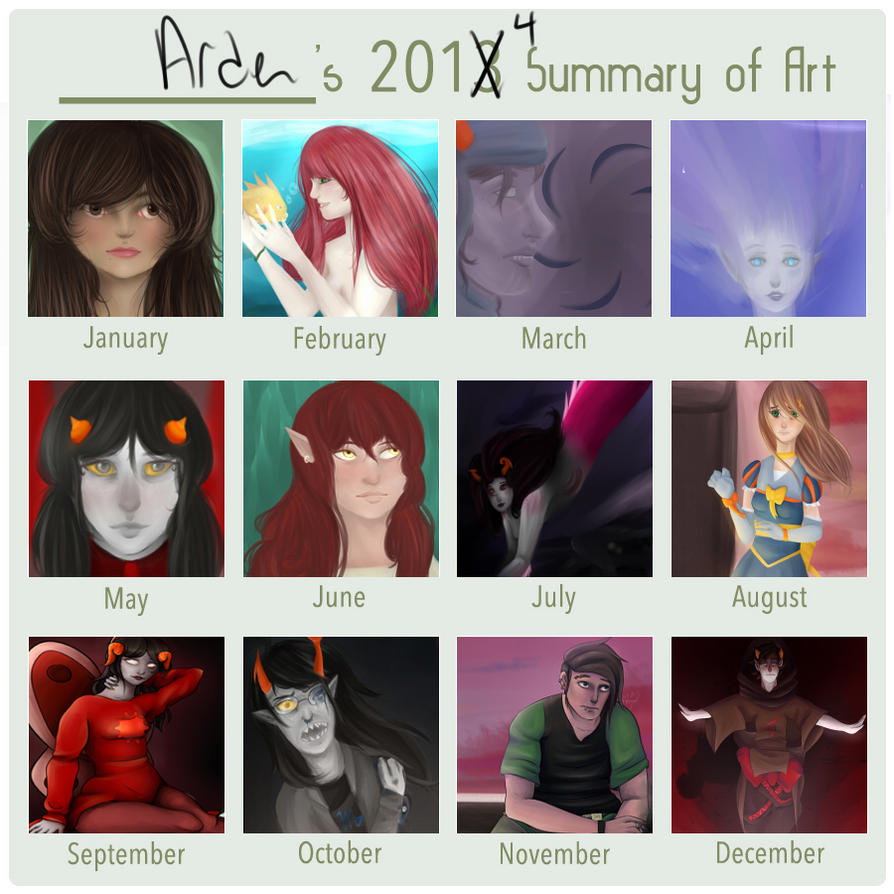 2014 Summary of Art by AdenChan
