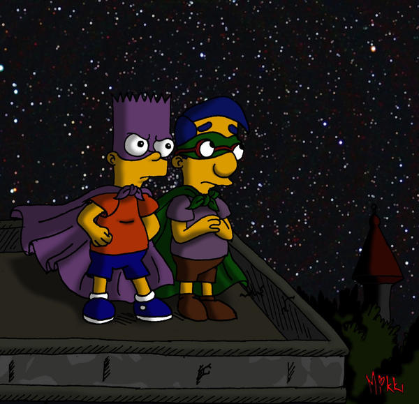 Simpsons: Bartman and Houseboy by MagicMikki