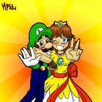 Mario: Luigi and his Sunshine by MagicMikki