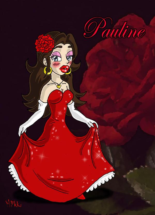 Mario: Pauline sparkling dress by MagicMikki