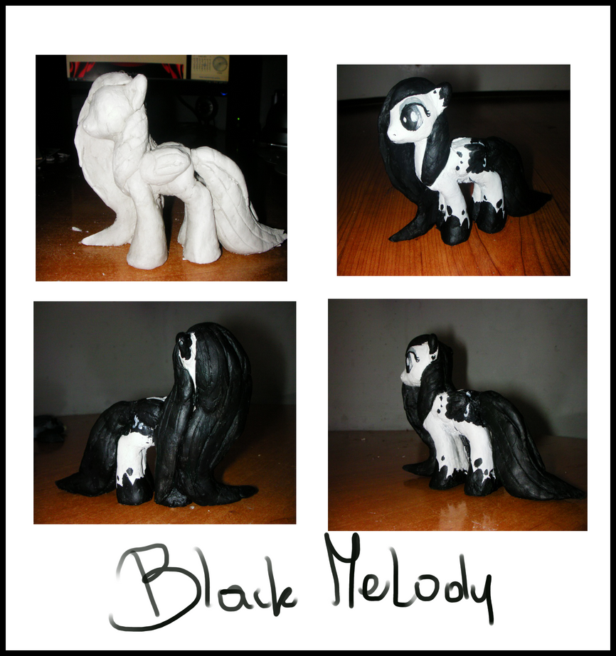 BlackMelodySculpture by VileRaven