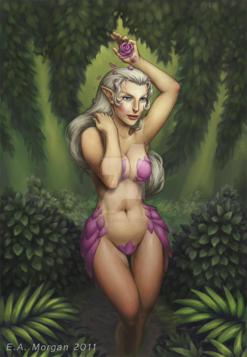 Erotic nymph art