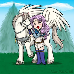 Florina and Friend by Silver-Falcon