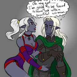 Drizzt's Dilemma by Silver-Falcon