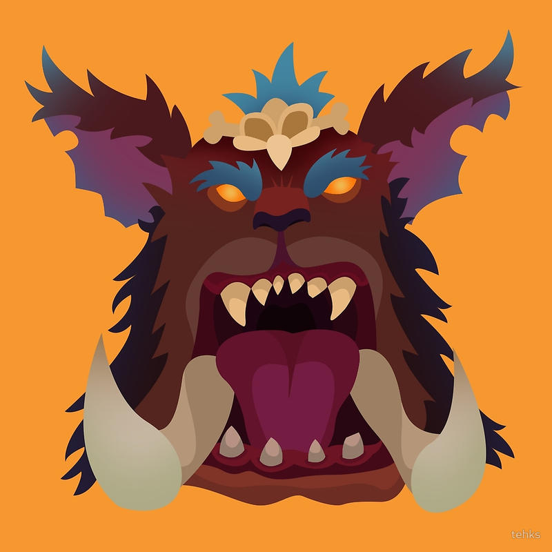 Mega Gnar Flat Design by techs181