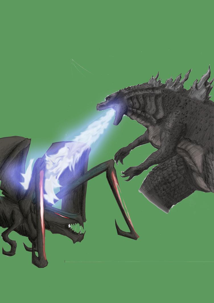 Godzilla vs Muto Pre-Version by ThrashMaster666 on DeviantArt