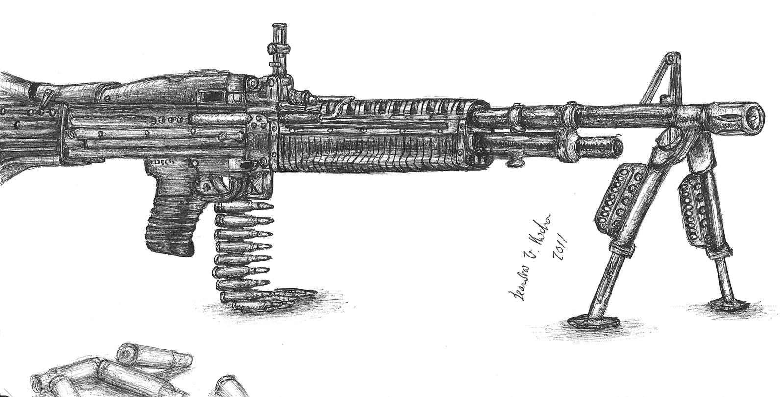 Image Gallery machine gun drawings
