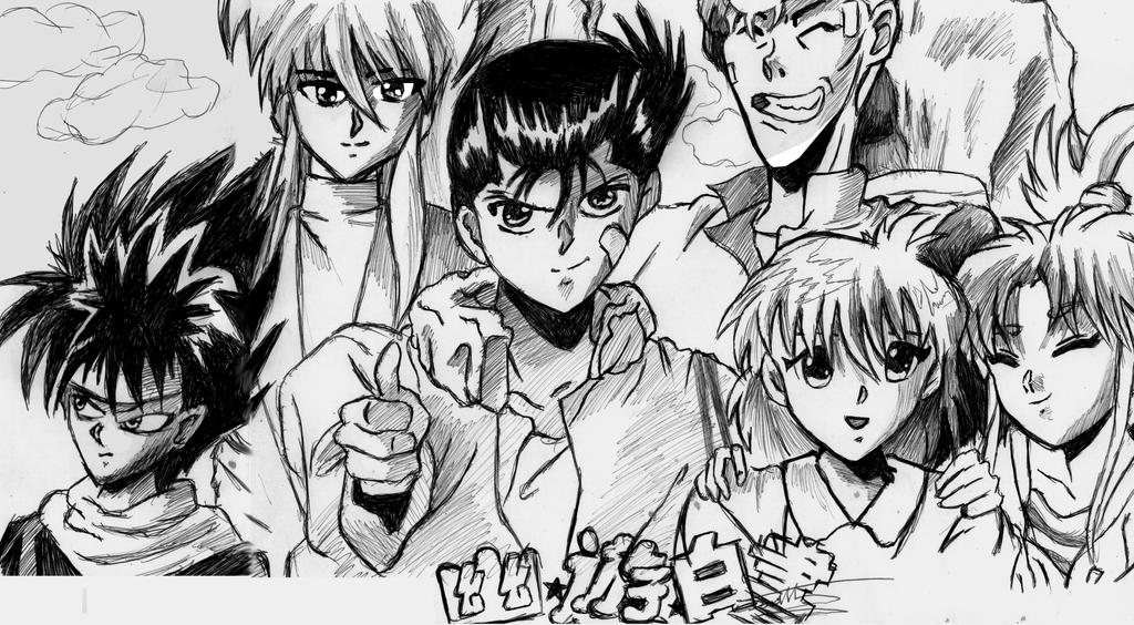 Yuyu Hakusho W Black Pen by Jameswhite89