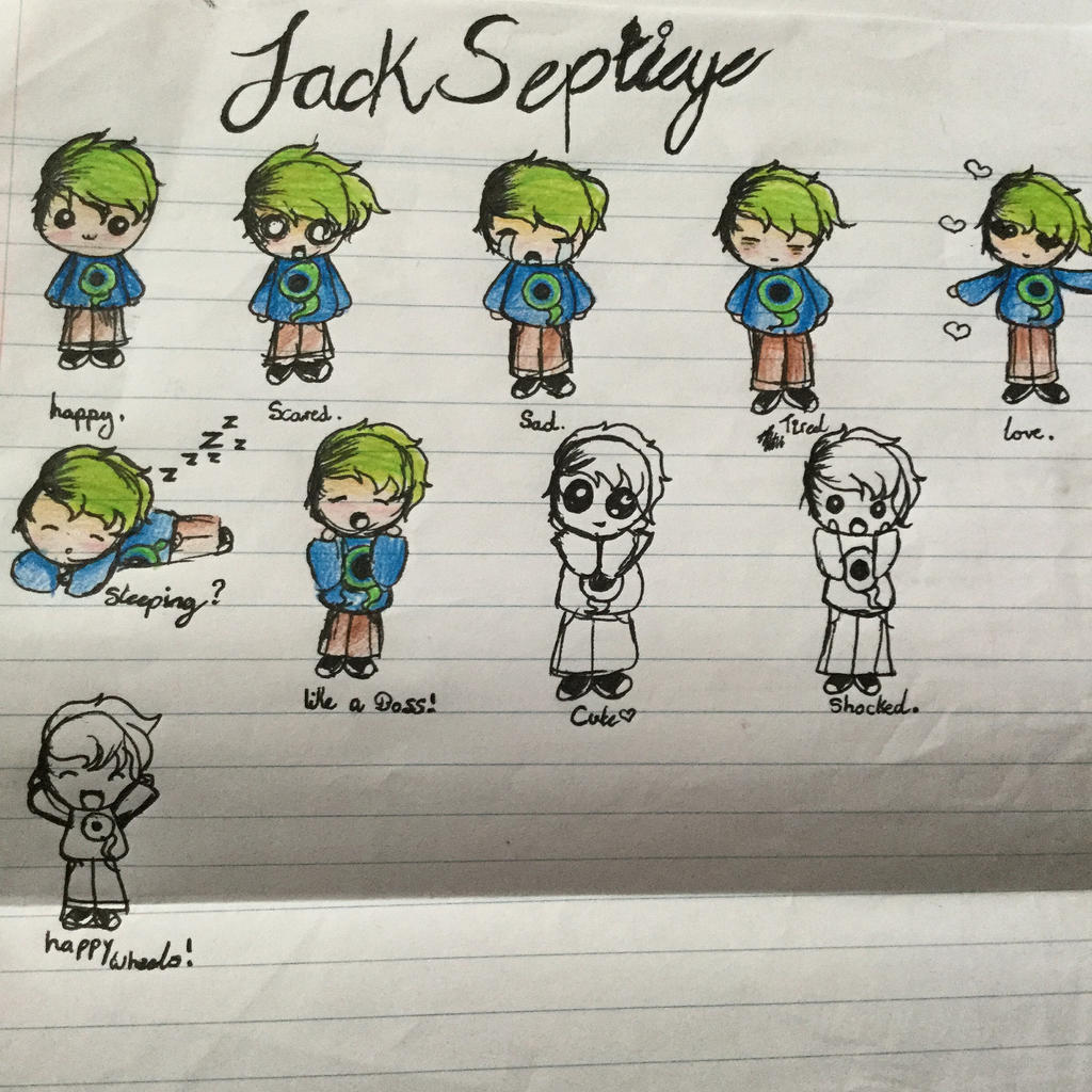Dinosaurcupcake21 When You Are Bored In Class Draw Jacksepticeye! By  Dinosaurcupcake21