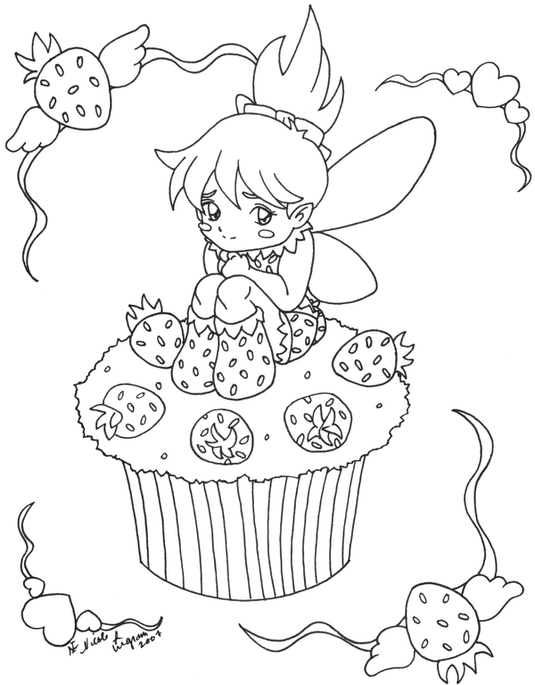 muffin coloring pages for kids | Kids Coloring Pages : Cupcake Coloring Pages