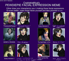 PewDiePie Facial Expressions With Natashya Shepard
