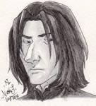 Severus Snape Watercolor Pencil Practice by CrystallineColey