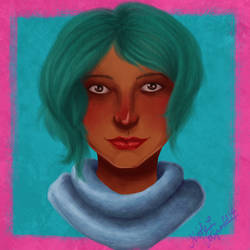 Teal Girl by CrystallineColey