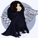 Chibi Jon Snow by CrystallineColey