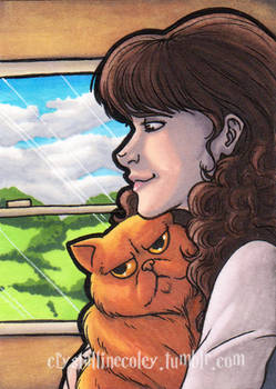 On The Hogwarts Express ACEO