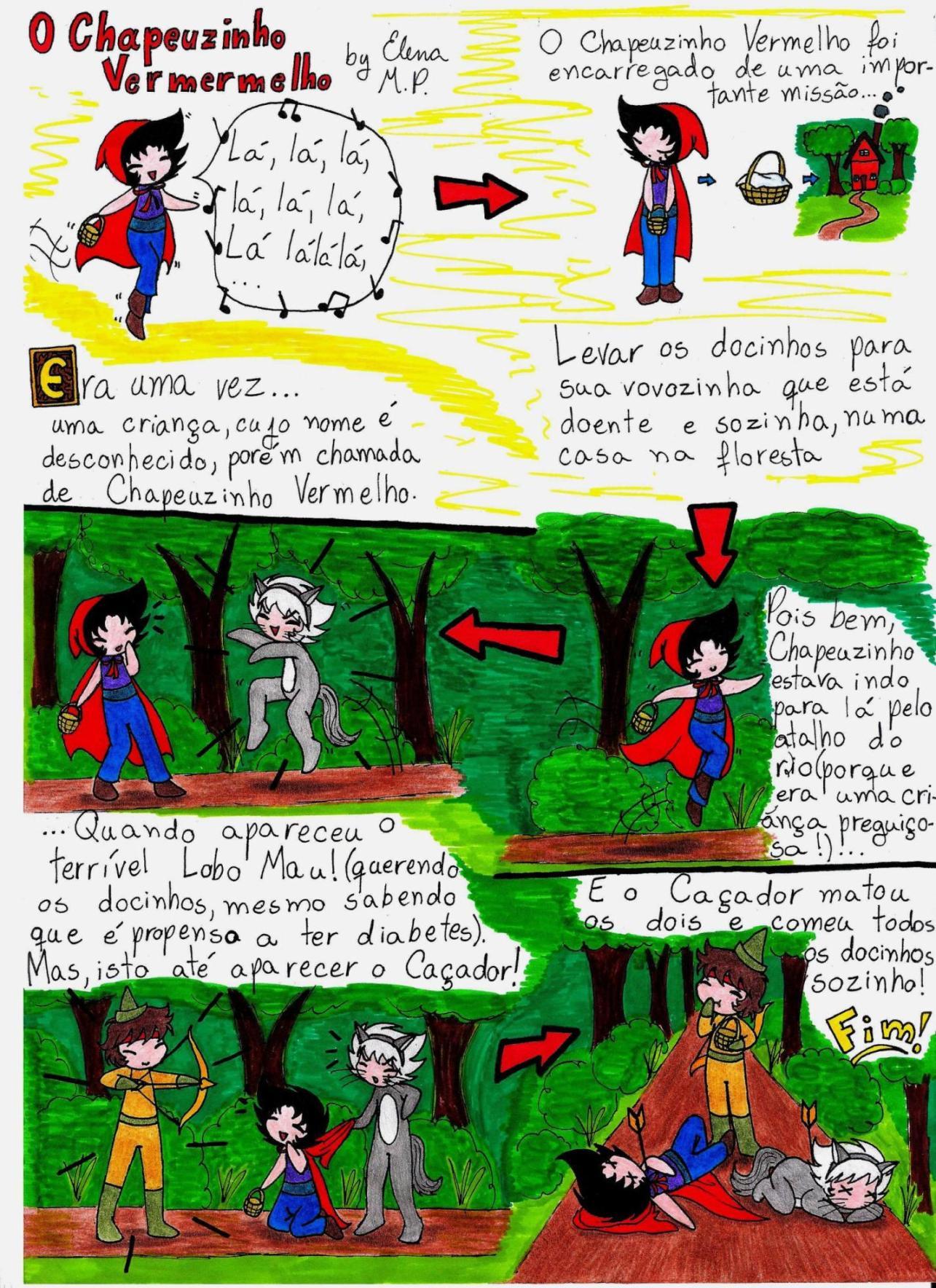 Chapeuzinho Vermelho Colorido by ElenaMP