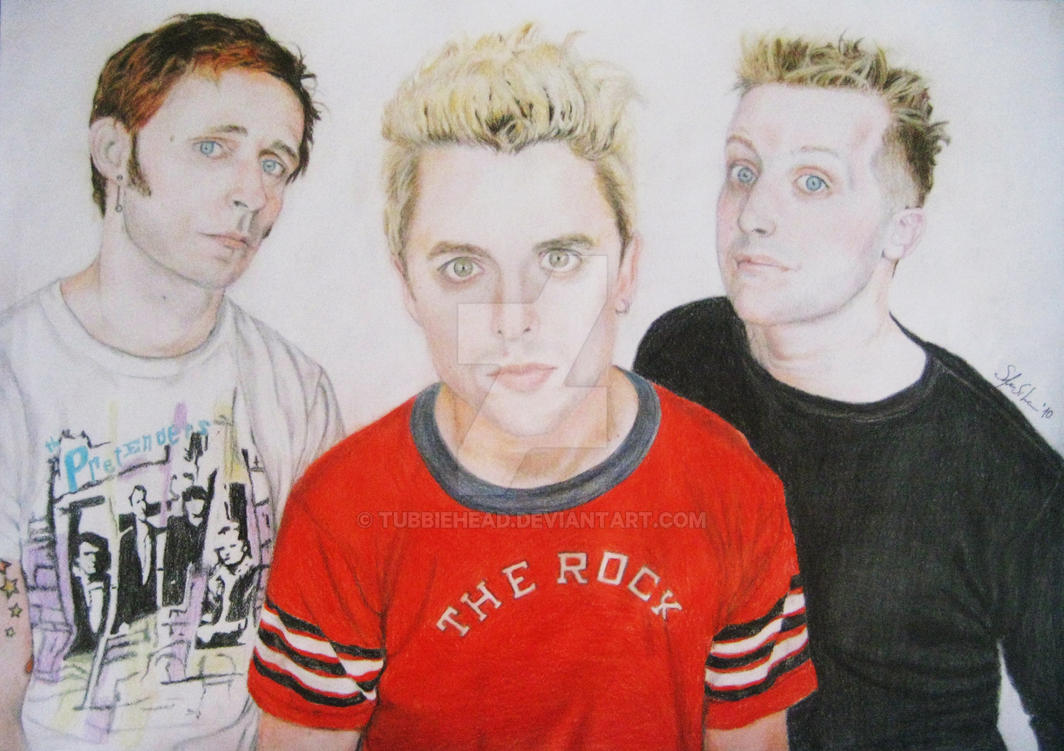 Green Day colour drawing by TubbieHead