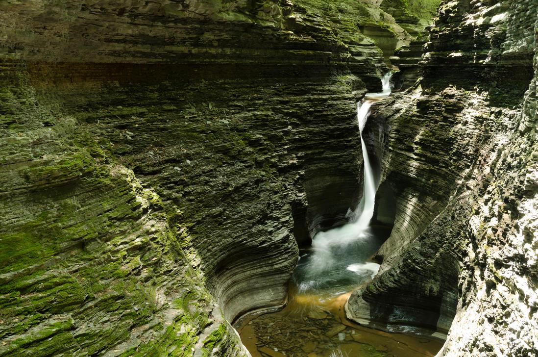 Waterfall Through Glen (Stock) by SabrinaFranek