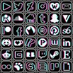 social RGB icons