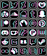 social RGB icons by spicycatz