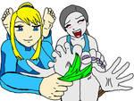 Samus vs Wii Fit Color 1