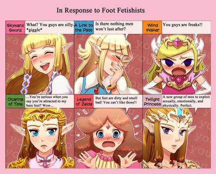 Zelda's Response to Foot Fetishists