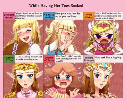 Zelda's Response to Having Her Toes Sucked