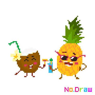 Coconut And Ananas Pixelart By Adidasthegirl On Deviantart
