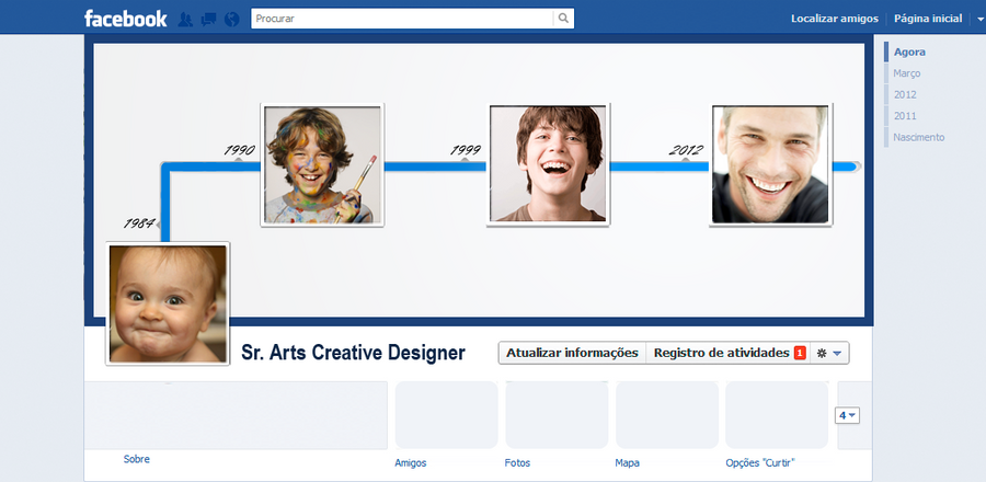 Template Facebook Timeline FREE by MarcosRenatoDesign