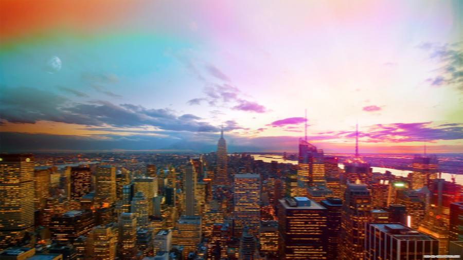 New York Sunrise Edit by fr0zenyoghurt
