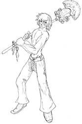 Bishonen with unique weapon