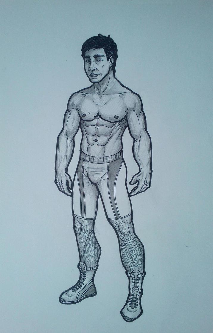 My friend - wrestler by VovaVeselovskyi