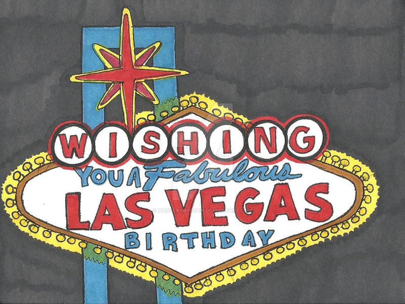 Las Vegas Birthday Card 2012 By MasterKrypton