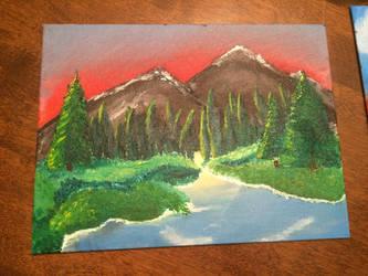 Evergreen Mountains by Auroen