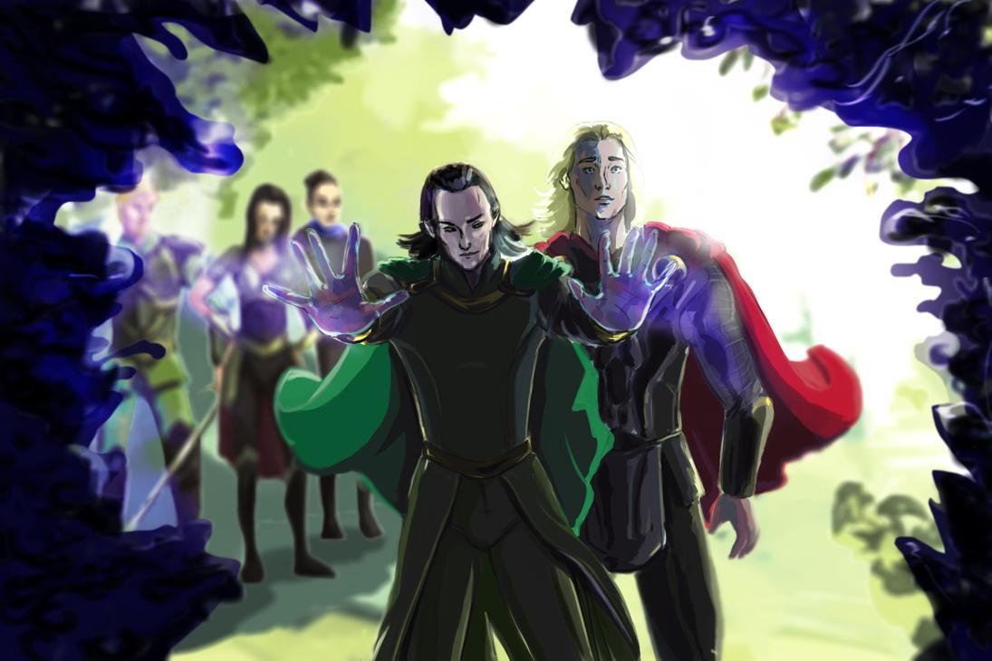 Loki helping out by Alikuu