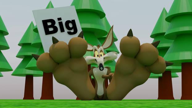 Wile E. Coyote's Big paws.