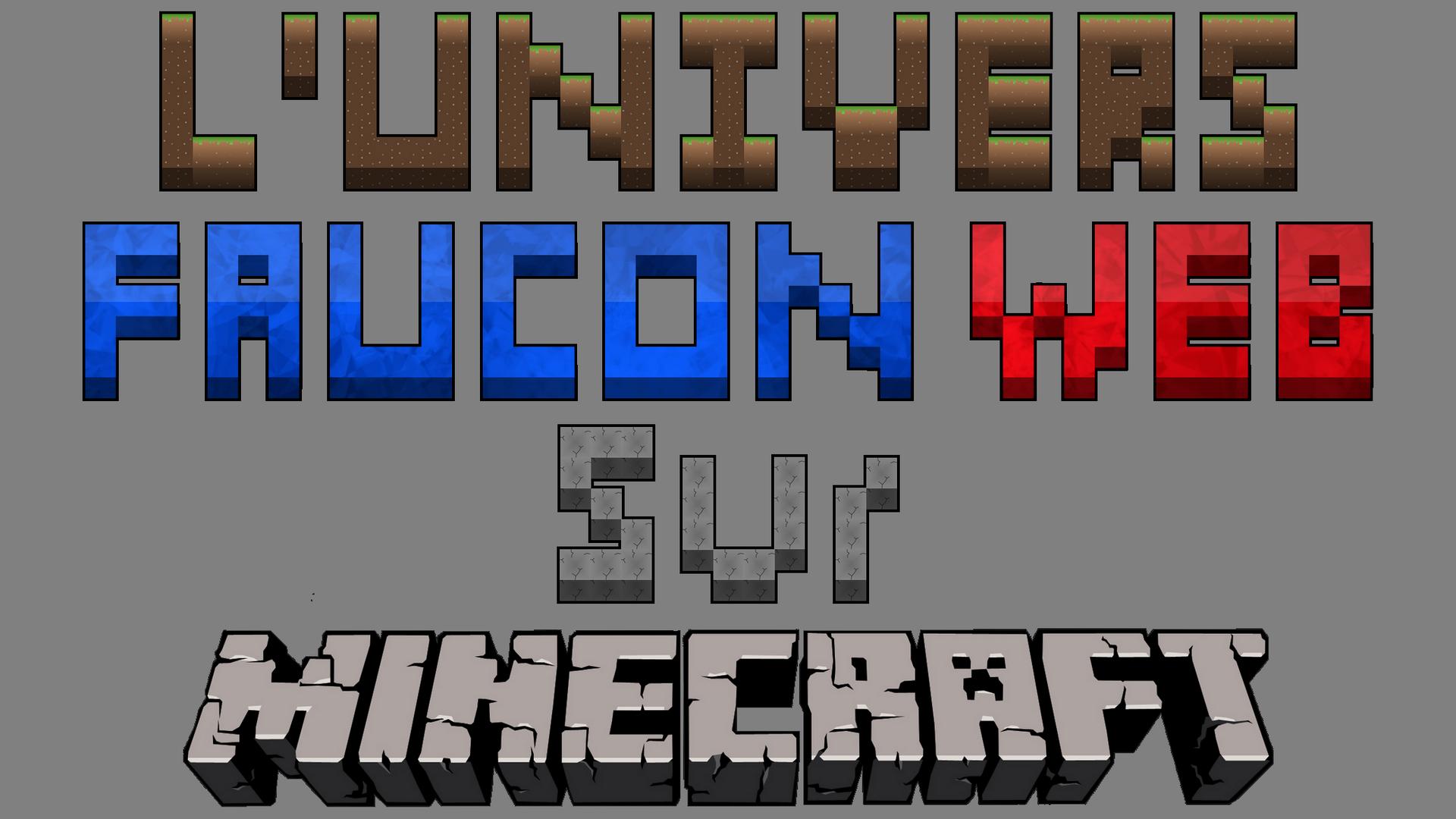 Logo de L'Univers Faucon Web Sur Minecraft by Faucon-Bleu