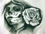 skull girl sketch