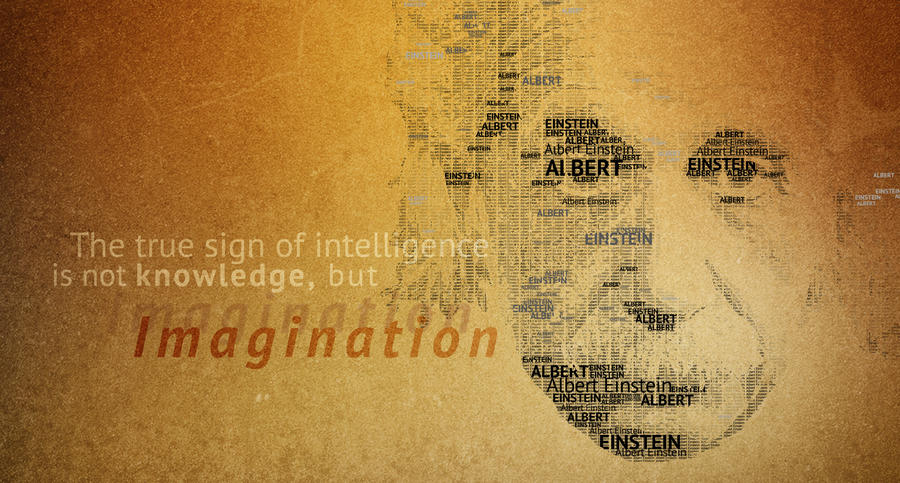 Typography Portrait Einstein by erezija