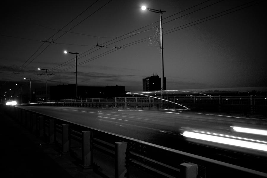 Small lights of Kaunas city by erezija
