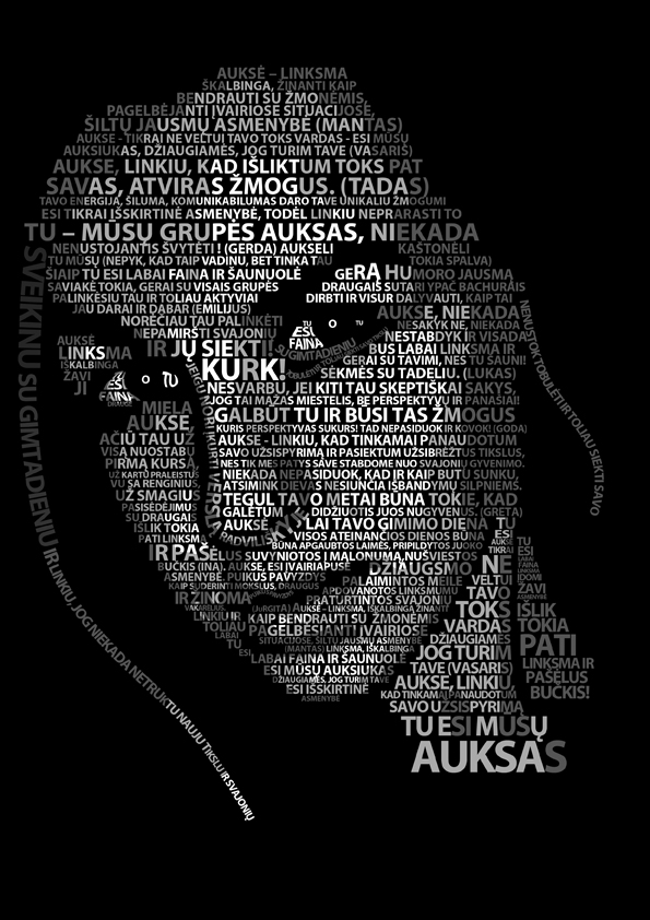 Typography Portrait Dark Lady by erezija