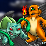 Charmander and Bulbasaur to the Rescue! by Stealfang-FP