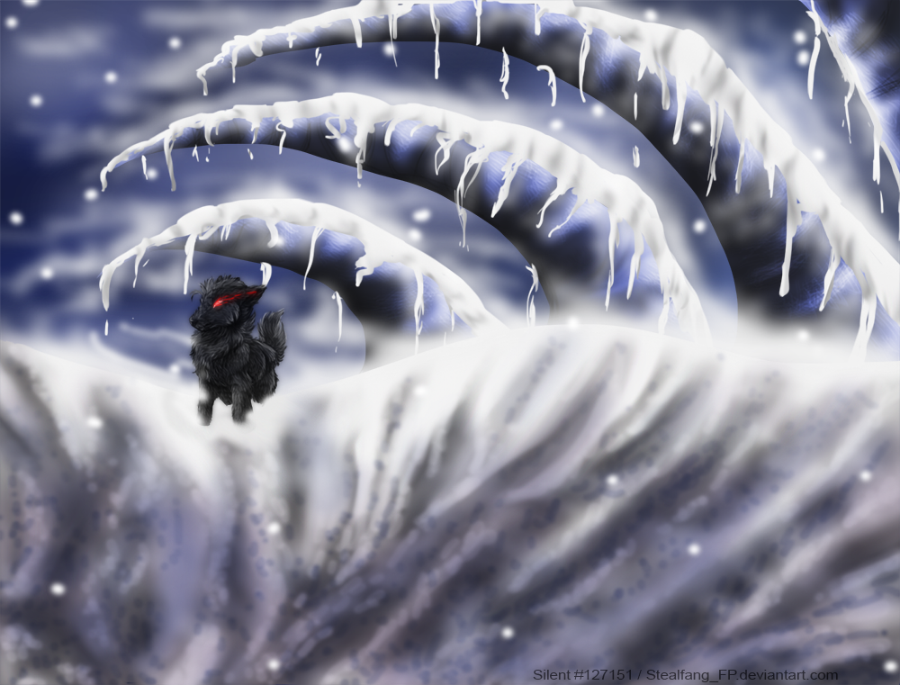 Shadow in the snow by Stealfang-FP