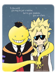 Korosensei and Toshinori