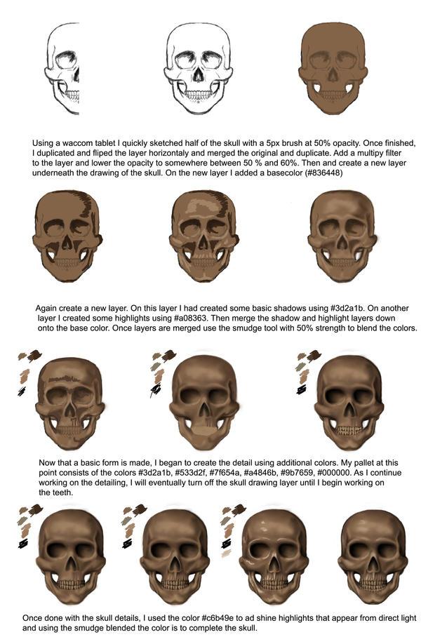 Skull Tutorial by daylightdreams