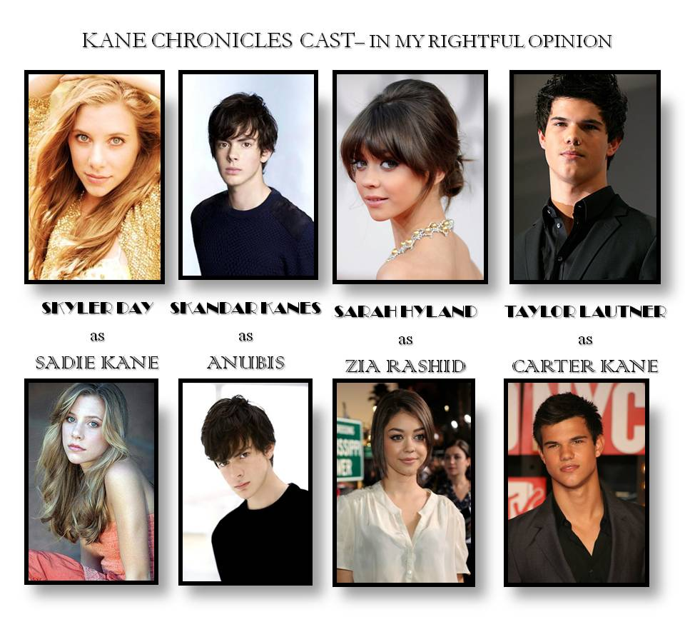 Kane Chronicles Cast by emothgurl on DeviantArt