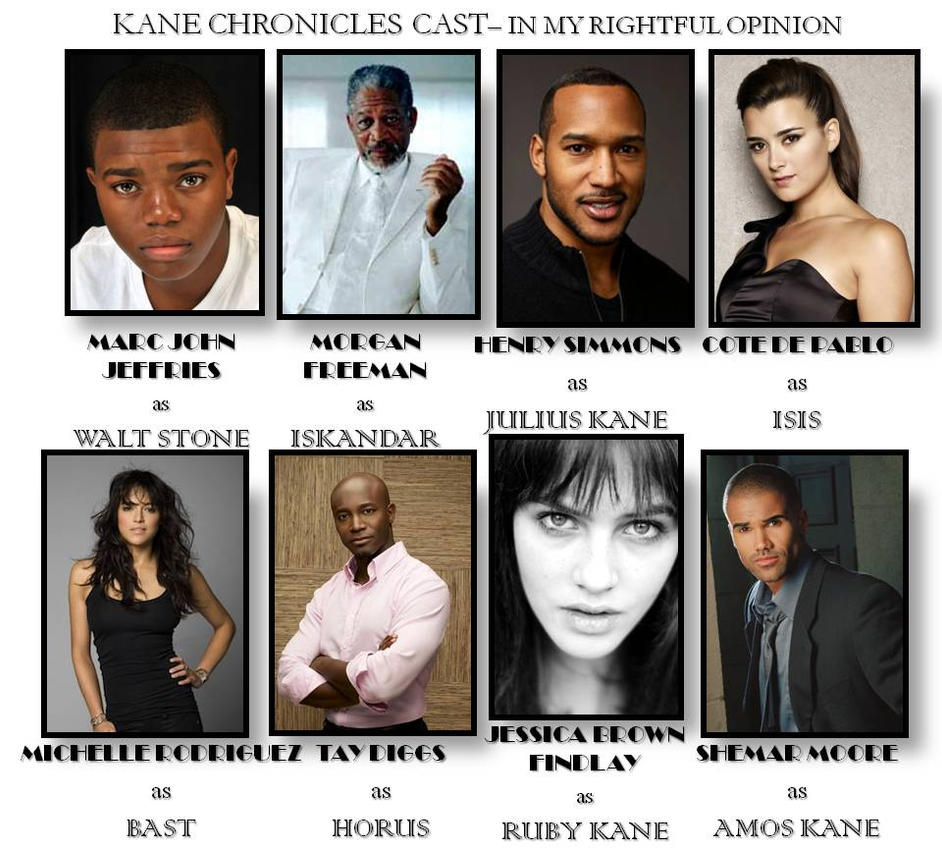 Kane Chronicles Cast 2 by emothgurl on DeviantArt