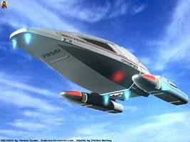 Landing Shuttle by Euderion
