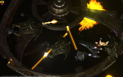 Battle of DS9 by Euderion