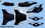Asari Starfighter concept (Valhawk class)